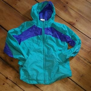 Girls Columbia Rain Jacket.